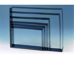 Fascia inox H 4 cm 58 x 38 cm RETTANGOLO FISSO RETH4