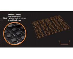 2 Stampi in Silicone 30x40 cm MICROFORATO QUADRATO 5x5xH2 cm 30MICRO07