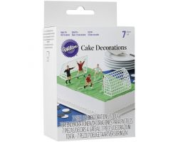 SET 7 TOPPER TORTA CALCIO DECORA 0261981