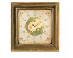 Orologio con Rosa gialla 55 x 55 cm N25