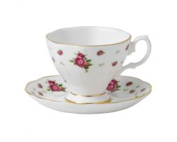 TAZZA ESPRESSO NEW COUNTRY ROSES WHITE NCRWTW 26136 ROYAL ALBERT