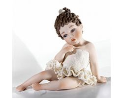 La Ballerina 33 A Statua in Porcellana Vicentina