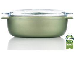 Rostiera Ovale con coperchio 36x24  cm Dr.Green antiaderente stone 00109DR/36GS