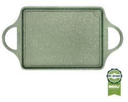 Piastra Servigrill 46x25 cm Dr.Green antiaderente stone 00114DR/46GS