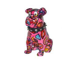 SALVADANAIO Bulldog Buddy Rosa Medio  14800310