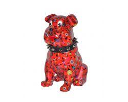 SALVADANAIO Bulldog Buddy Rosso Piccolo  14800310