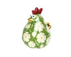 SALVADANAIO Chicken Matilda Verde e Bianco Piccolo  14800193 vb