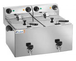 Friggitrice doppia elettrica 6 + 6 lt con rubinetto FE88R