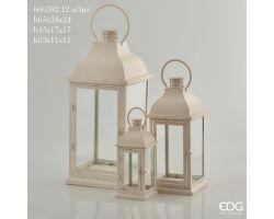 Lanterna Metallo Quadrata H 33 cm 606592.12