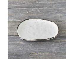 Piatto Piano bianco 26 cm STONE D15334