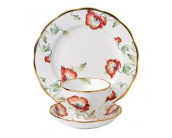 Tazza con piattino e piatto dolce Poppy 1970 40017570 Royal Albert