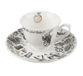 Tazza caffè con piattino ALICE NEL PAESE DELLE MERAVIGLIE 5200019