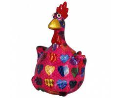 SALVADANAIO Chicken Charlotte Fuxia Piccolo 14800341