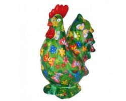 SALVADANAIO Rooster Maurice Verde Piccolo 14800404