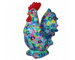 SALVADANAIO Rooster Maurice Blu Piccolo 14800404