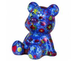 SALVADANAIO Bear Cyril Blu Piccolo 14800243