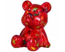 SALVADANAIO Bear Cyril Rosso Piccolo 14800243