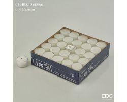 SET 50 CANDELE LUMINO CON CONTENITORE PLASTICA TRASPARENTE 611405.10