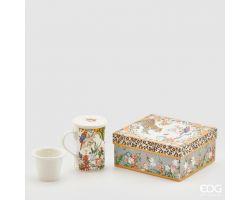 TAZZA CON FILTRO E COPERCHIO in porcellana orange mix 017107.36