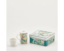 TAZZA CON FILTRO E COPERCHIO in porcellana green mix 017107.78