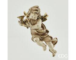 DECORO ANGELO POLY CON CORNO H34 cm 674621.03