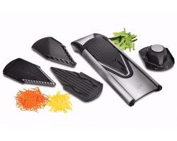 Set Affettatutto Mandolina nero acciaio inox V6  6560050