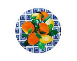 Piastrella Sottopentola in ceramica POSITANO Citrone Ø 20 cm DU0082