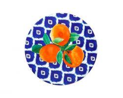 Piastrella Sottopentola in ceramica POSITANO Arancia Ø 20 cm DU0080