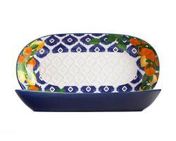 Ciotola in ceramica oblunga POSITANO 43x22 cm Citrone DR0190