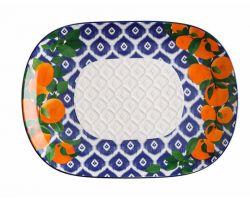 Vassoio in ceramica oblungo POSITANO 45x33 cm Arancia DR0189