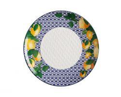 Vassoio in ceramica tondo POSITANO Ø 36.5 cm Limone DR0186
