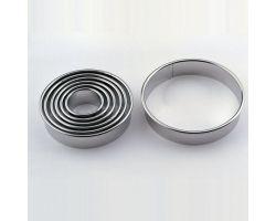 Set 9 Tagliapasta ROTONDO liscio acciaio inox CUT1L9