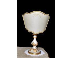 Lampada in legno decapata con foglia oro 708/PC