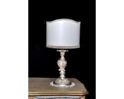 Lampada in legno decapata con foglia argento 746/PC