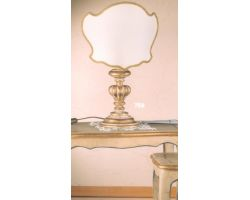 Lampada in legno decapata con foglia oro 756/C