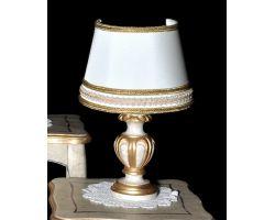 Lampada in legno decapata con foglia oro 872/PC