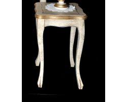 Tavolo in legno decapato con dettagli oro Piccolo 0068A