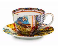 Set 2 tazze Caffè con piattino SANTA ROSALIA 1036897