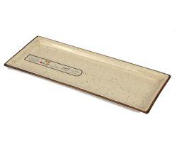 Piatto Rettangolare 36.3x14.2 cm JUST COLOR crema 7240
