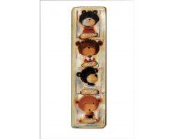 Quadro Orsetti Teddy Bears KJ3a