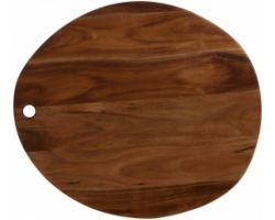 Tagliere acacia artisan ovale 45 x 40 x 1.8 cm FS0002