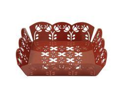Cestino in ferro Rosso 23 x 23 cm CASABELLA 5096-01-CBA