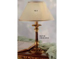 LAMPADA DA TAVOLO FOGLIA ORO Ø 16 H 53 R67