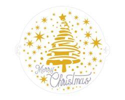 STENCIL MERRY CHRISTMAS TREE&STARS Ø 25 CM 9270979