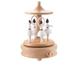 Carillon in legno di faggio BALLERINE Ø 11 x 17 cm A1008