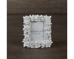 Cornice Bouquet bianco Linea Ostuni 12x14 (6x9) cm D15098