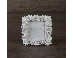 Cornice Bouquet bianco Linea Ostuni 13x13 (7x7) cm D15099
