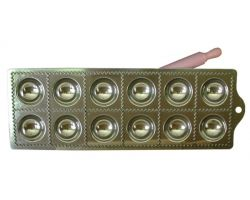 RAVIOLATORE tondo 12 pz in alluminio con mattarellino 115161