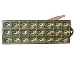 RAVIOLATORE tondo 24 pz in alluminio con mattarellino 115165