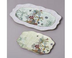 Vassoio ovale 40 x 25 cm SECRET GARDEN D17447